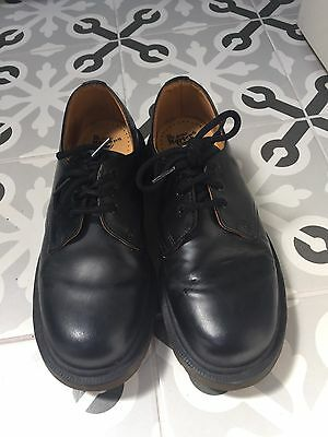 DR MARTENS Women  BLACK LACE UP SHOE SIZE UK 4 Leather