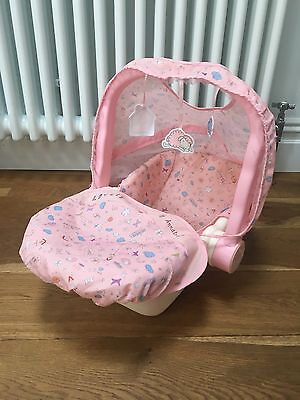 BABY ANNABELL CAR Seat / Carry Cot Excellent Condition - Zapf ...