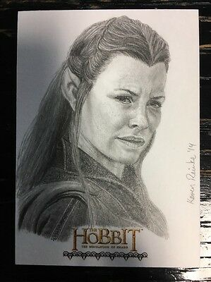 The Hobbit Desolation Of Smaug Sketch Card By Keven Reinke Tauriel
