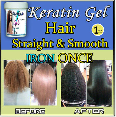 KERATIN IN GEL, WITHOUT IRON FOR 6 MONTHS. FLAT EXTREME, THE BEST 1 oz