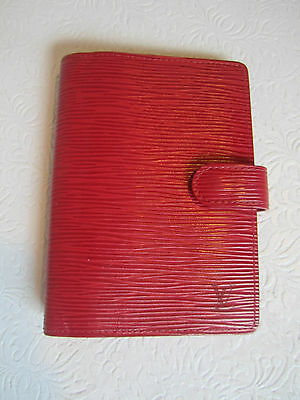 Louis Vuitton Agenda - Day Planner -Red Epi Leather Ca1000