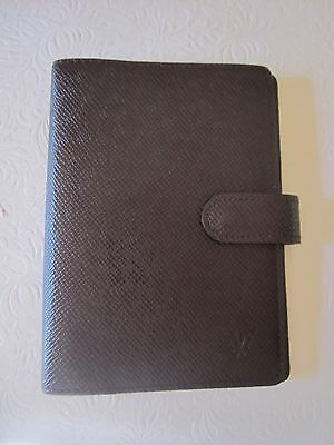 Louis Vuitton Agenda - Day Planner In Brown Taiga Leather Ca0968