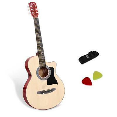 NEW 38 Inch Wooden Acoustic Guitar Natural