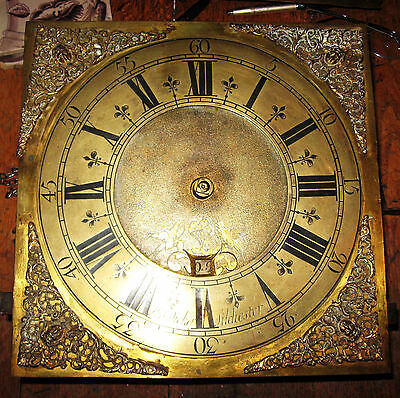 Longcase Clock Dial And Movement 30 Hour Thos Dicker 1740's Silchester