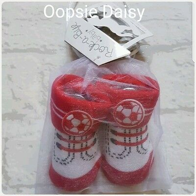 Baby Boys Football Boot Socks - In Draw String Gift Bag ☆