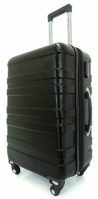 Luggage Bag Abs Hard Shell 4 Wheel Removable New Mechanism Large Black