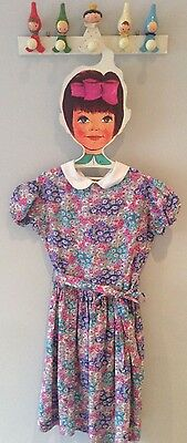 Super Rare 1950's Vintage Handmade Floral Dress Age-7