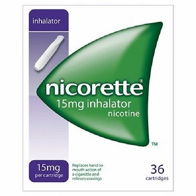 3 Boxes Nicorette 15mg Inhalator 36 - 108 Cartridges in Total Expiry date 2019