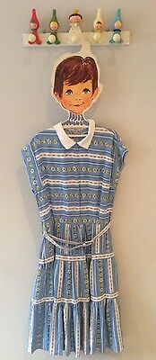 Iconic Rare 1950's Vintage St Michael Girls Belted Dress Age 8