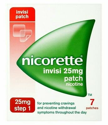 Nicorette Step 1  Invisi Patches,25Mg. Nicotine, X 28 Patches. New & Sealed