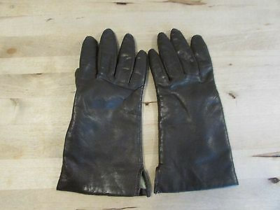 Women's Brown100% Genuine  Leather Gloves Size Medium 100% Acrylic Lining