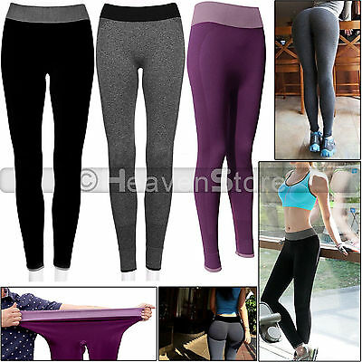 Women Yoga Pants Ladies Fitness Leggings Running Gym Exercise Sports Trousers UK