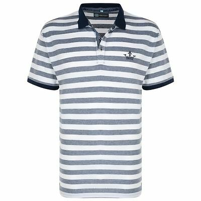 KAM Pure Cotton Birds Eye Striped Pique Polo Shirt (5010),Size 2XL-6XL,2 Options