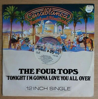 "The Four Tops - Tonight I'm Gonna Love You All - original 1981 12"" vinyl single"