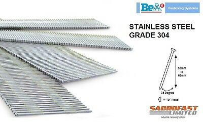 STAINLESS STEEL 15 GAUGE DA TYPE ANGLED FINISH NAILS BOX 1,000 - 38, 50 or 63MM