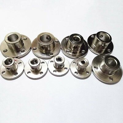 1pc 3-12mm Rigid Flange Coupling Metal Guide Shaft Bearing Seat High Hardness