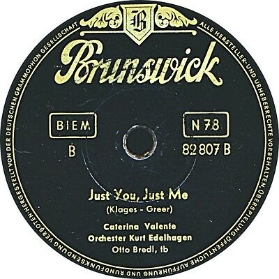 Caterina Valente -  Just you, just me / Istanbul - 1954