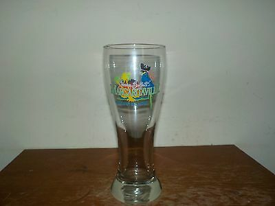 Vintage Jimmy Buffett's Margaritaville Cayman Islands Blue Pirate Parrot Glass