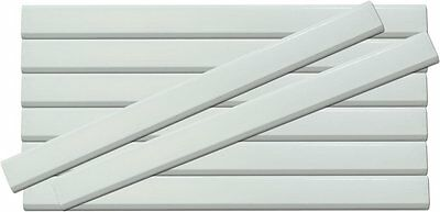 White Wooden Carpenter Pencils 24 Count With Black Lead