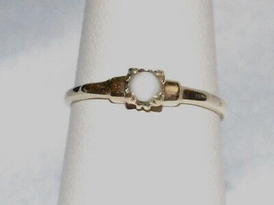 10k Gold ring with a solitaire pearl