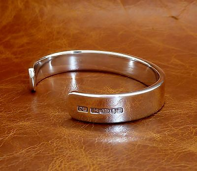 Men's Solid Sterling Silver X Heavy Torque Bracelet -Hand Made- By D Locke