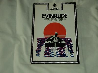 Clymer Evinrude  1.5 to 35 HP 1965 to 1978 Repair Manual