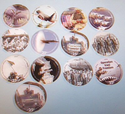 5th  Print Set 25 Cent AAFES  Pogs 2005 printing  A.U. Condition