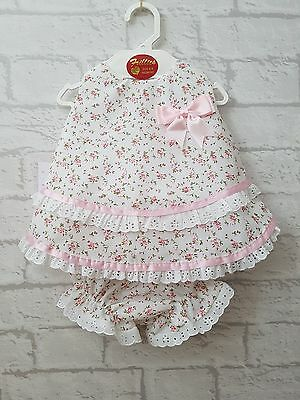 Baby Girls Stunning Spanish Style Roses Angel Dress & Bloomers