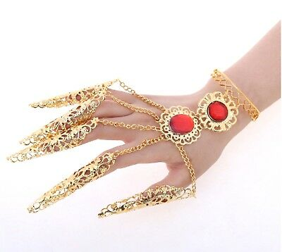 Chain Bracelet Bangle Designer Vintage Hand Jewellery Belly Dancers Dancing Gold