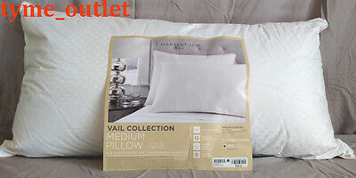 Charter Club Vail Collection 50/50 Feather/Down KING Pillow Medium Support $220