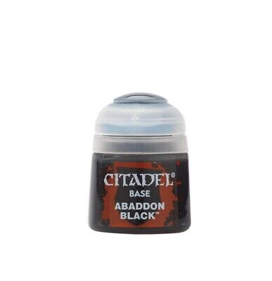 Abaddon Black Games Workshop 99189950025 Citadel Paint Brand New in Box