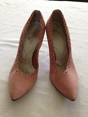 Vintage Barrister Fifth Ave Pink Suede Pumps Heels Shoes 1950s size 6