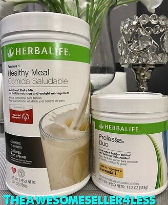 NEW HERBALIFE FORMULA 1 HEALTHY MEAL SHAKE & PROLESSA DUO 14 or 30 DAY PROGRAM