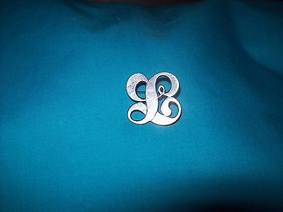Chicago Arts and Crafts Hand Wrought Sterling L Initial Pin by Kalo