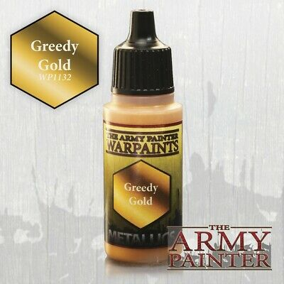 Warpaints: Greedy Gold Army Painter Water Based Acrylic New in Box AP-WP1132