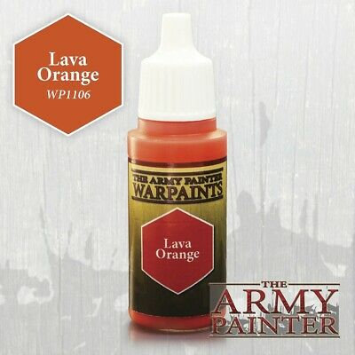Warpaints : Lava Orange Army Painter Water Based Acrylic New in Box AP-WP1106