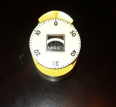Vintage Retro Kitchen MIRRO TIMER,Clean,large Dial,up to 60 minutes,Works Great!