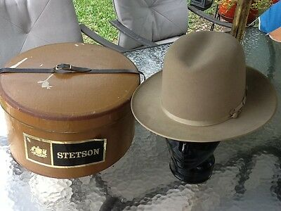 Vintage 1950s Tan Open Road Stetson Twenty Five Size 7-1/8 w/ Box