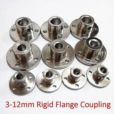 3/4/5/6-12mm Rigid Flange Coupling Metal Bearing Seat Motor Guide Shaft Coupler