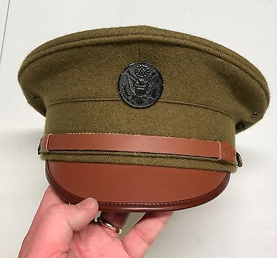 Reproduction WWI U.S. 1912 enlisted visor cap w/ insignia - size 7.5