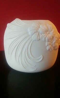 Kaiser White Bisque Porcelain Vase From West Germany Signed M Frey
