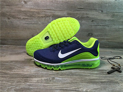 NIKE AIR MAX 2017 Men's Running Trainers Shoes (Green & Blue)