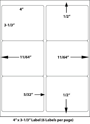 """33 per page 33 Up Uncoated Laser Inkjet Labels 2.83/"""" x 1/"""" Various Quantities"""