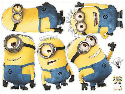 Minions Despicable Me 5 Removable Wall Stickers Decal Kids Room Home Decor NEW!
