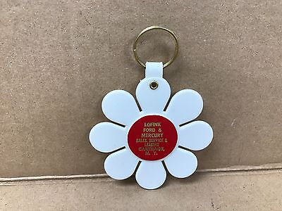 Vintage Original 1960's Lofink Ford And Mercury Key Chain Flower Power