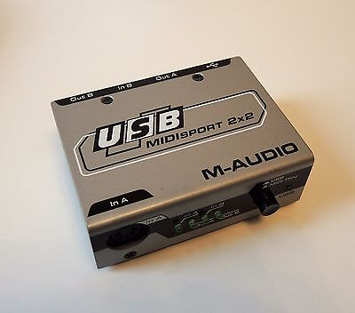 M-Audio Midisport 2x2  - USB Midi Interface - USB powered - Supports Win 10 64x