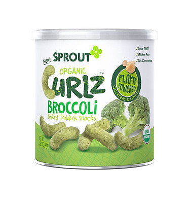 Sprout Organic Baby Food, Sprout Curlz Organic Toddler Snacks, Broccoli, 1.48 Ou