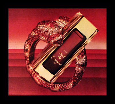 1984 Cartier Perfume Ad - Must de Cartier - Snake - Dragon - Advertising page