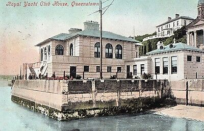 Royal Yacht Club House Queenstown Cork Ireland Postcard Posted 11-July-1905