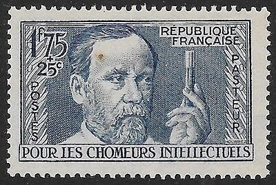 FRANCE: 1938 Unemployed Intellectuals Fund, 1f.75 + 25c, MNH (flaw)